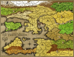 The Twelve Domains Risk Game Map