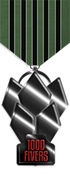 1000 fivers onyx medal