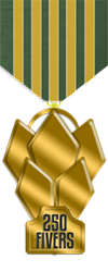 250 fivers gold medal