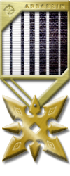 Assassin Medals gold