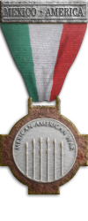 Mex Silver Mexican-American War medal