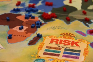 playing risk game board