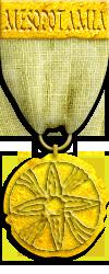 Mesopotamia Gold Risk Game Medal
