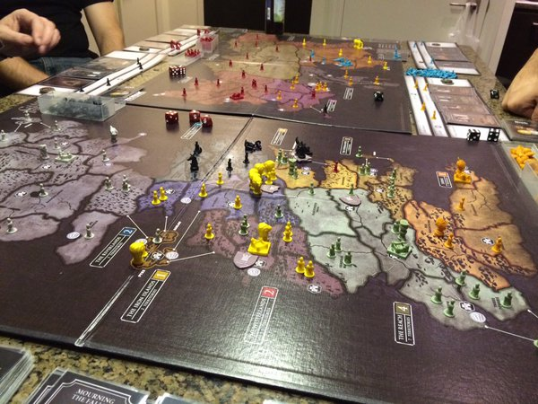 RISK Game of Thrones Board Set Up