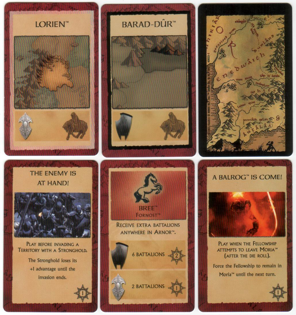 Risk The Lord Of The Rings Trilogy Edition - Assorted Cards