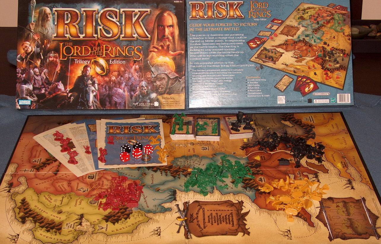 Risk The Lord Of The Rings Trilogy Edition - Box And Board