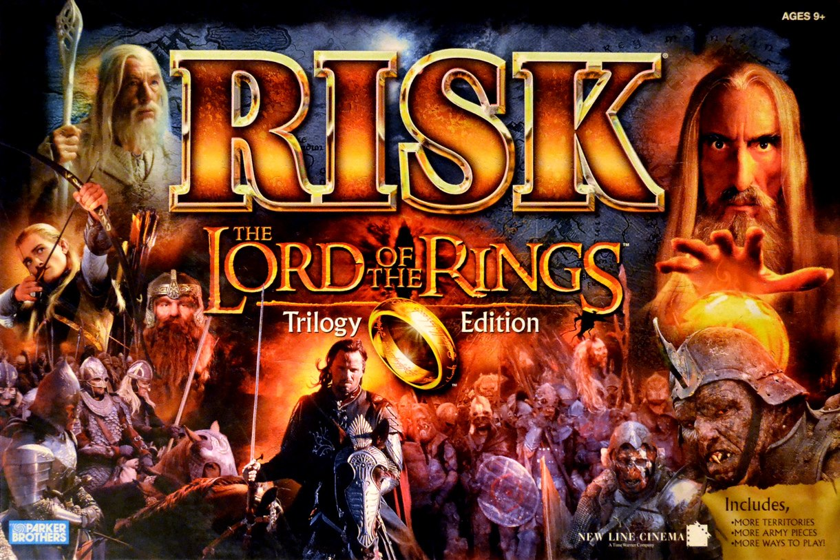 Risk The Lord Of The Rings Trilogy Edition - Box Cover