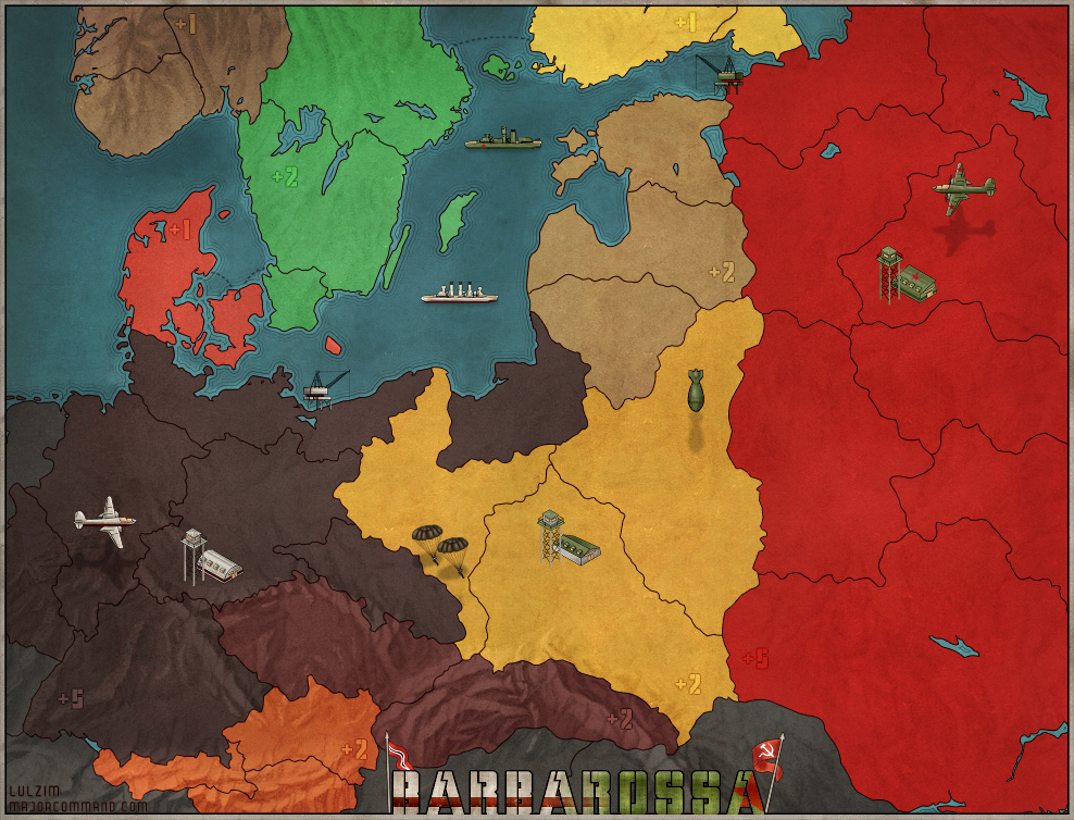 Operation Barbarossa Board Game Map